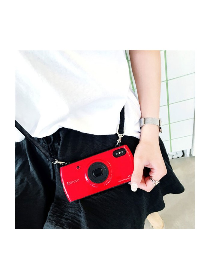 Camera Design iPhone Case With Lanyard