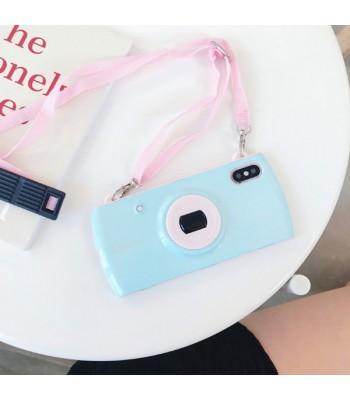 Camera Design iPhone Case With Lanyard