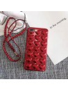 Red 3D Hearts iPhone Case With Lanyard