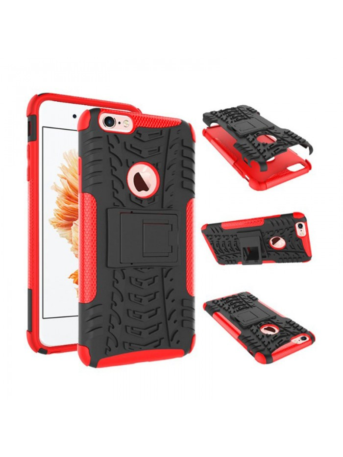 Dual Color PC + TPU Rugged Heavy Duty Protection Hybrid Kickstand Apple iPhone 6/plus Case