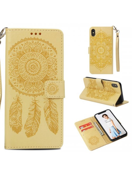 iPhone Xs Max Embossed Windbell Leather Folio Case
