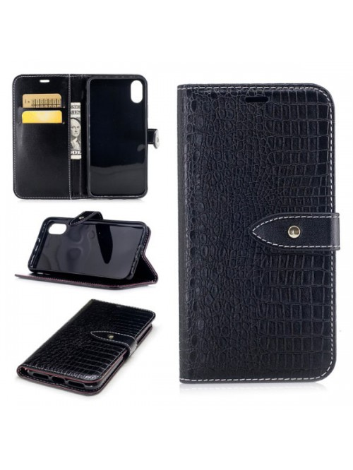 iPhone X Crocodile Leather Wallet Business Case