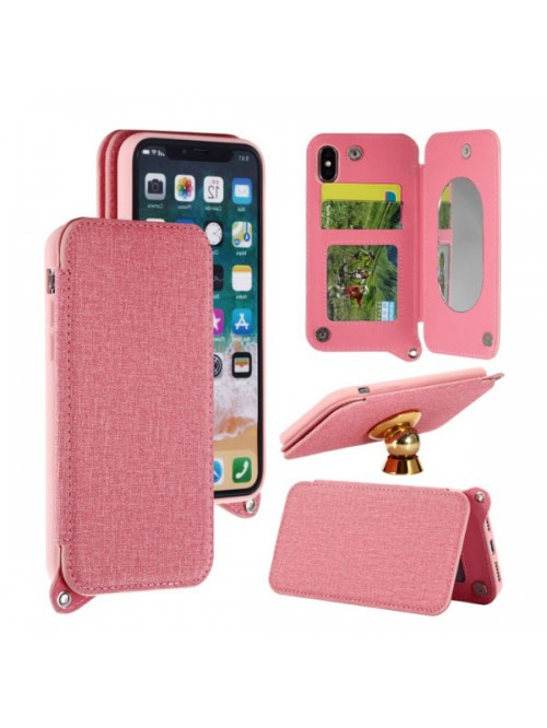iPhone X Folio Card Case With Hidden Mirror