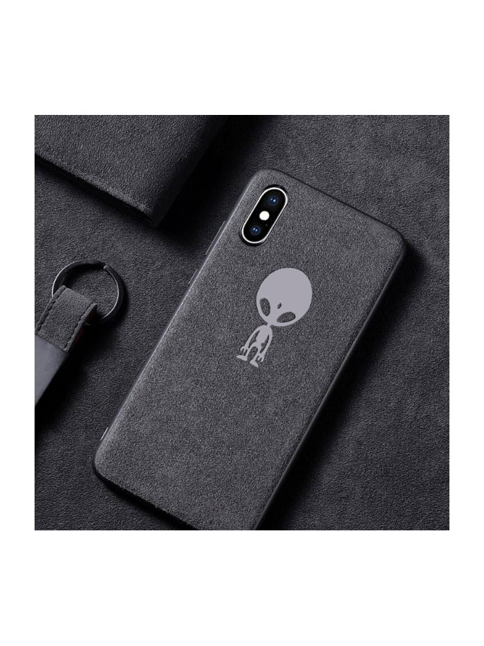 Suede Leather iPhone Case - The Alien