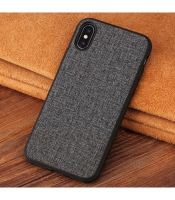 Minimalist Linen iPhone Case - Linen Grey