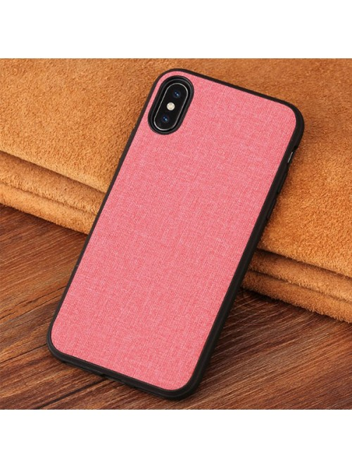 Minimalist Linen Cloth iPhone Case - Linen Pink