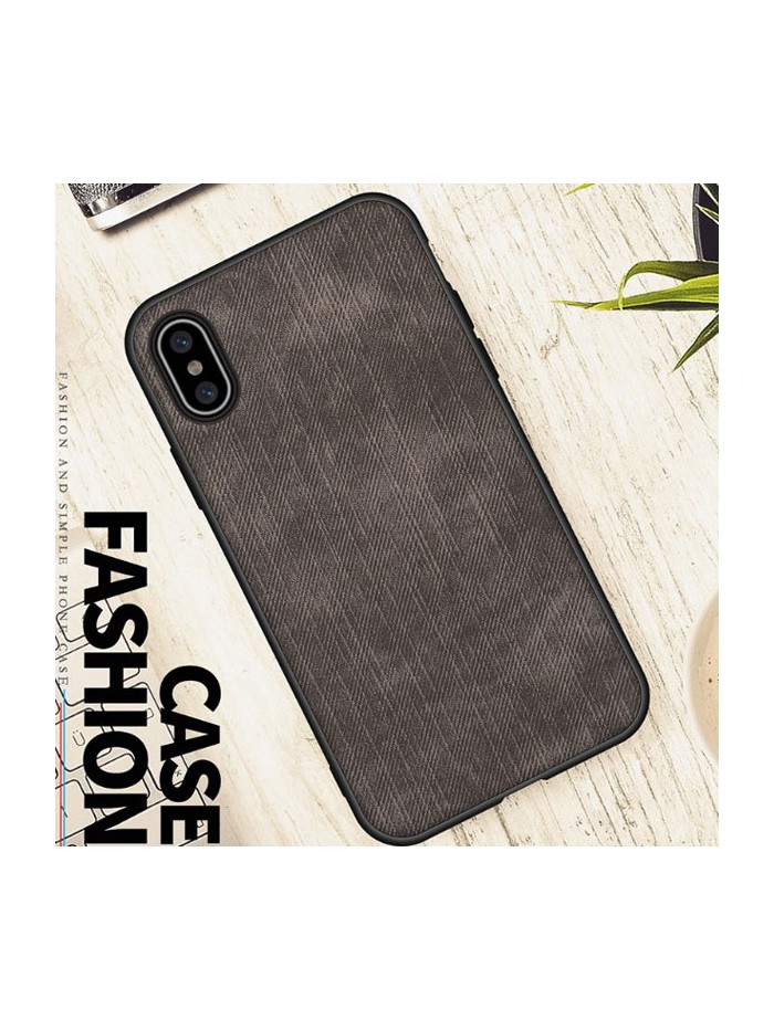 Minimalist Linen iPhone Case - Linen Black