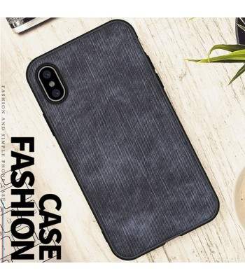 Minimalist Linen Cloth iPhone Case - Linen Blue