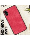 Minimalist Linen Cloth iPhone Case - Linen Red