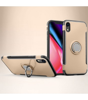 iPhone XR Magnetic Car Mount Case With Hidden Ring Holder