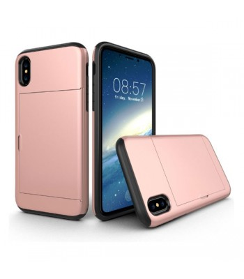 iPhone XR Shockproof Case With Sideslip Hidden Card Slot