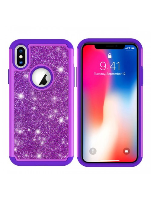 iPhone Xs Glitter Dual Layer Shockproof Case