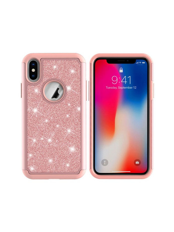 iPhone Xs Max Glitter Dual Layer Shockproof Case