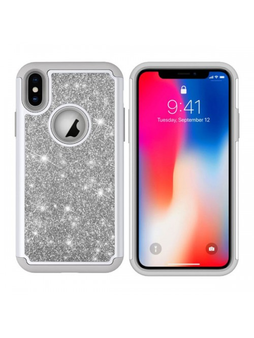 iPhone XR Glitter Dual Layer Shockproof Case
