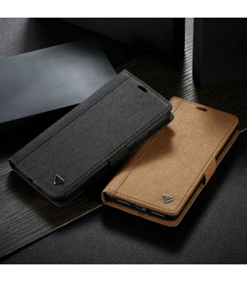 iPhone Xs Leather Flip Case With Card Holder