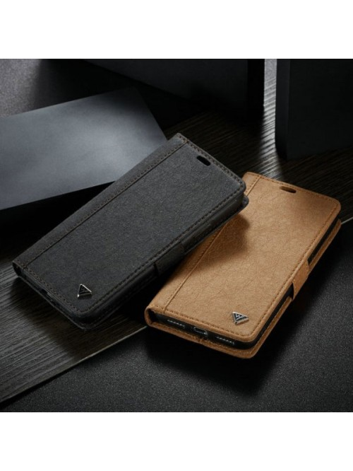 iPhone XR Leather Flip Case With Card Holder