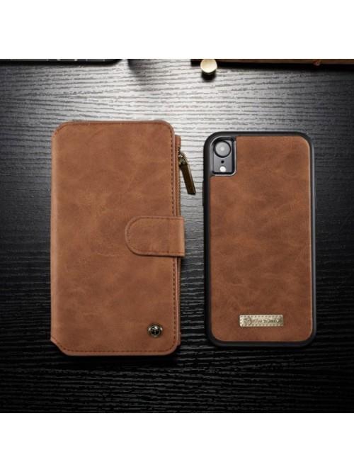 Luxury iPhone Xs Leather Detachable Wallet Case