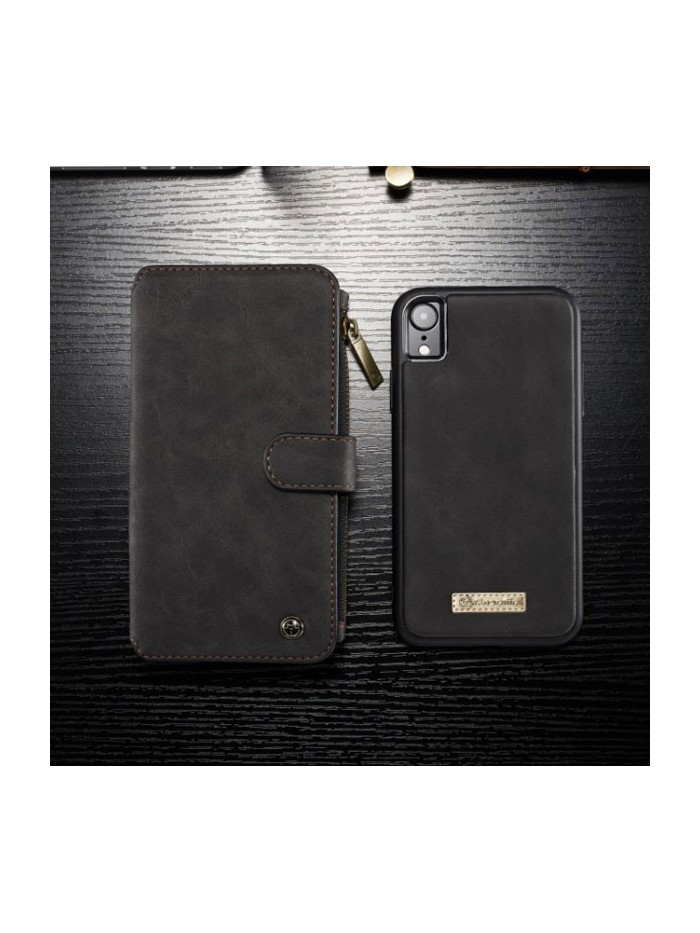 Luxury iPhone Xs Leather Wallet Case