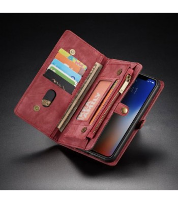 Premium Leather Wallet Case For iPhone Xs