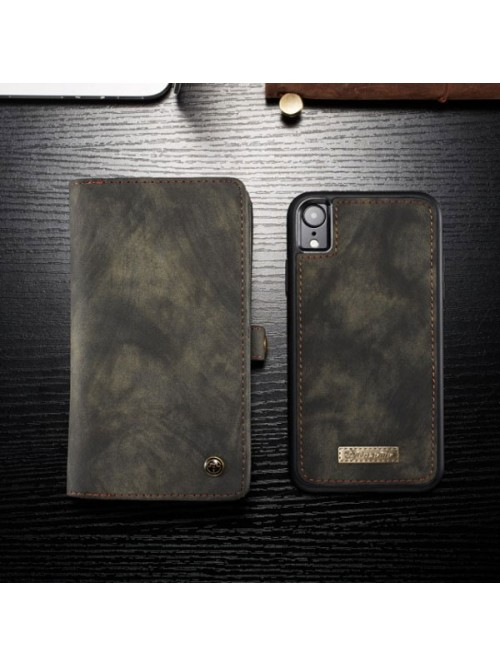 Premium Leather Wallet Case For iPhone XR