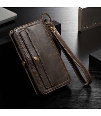 Vintage Leather Folio Case With Card Holder For iPhone Xs