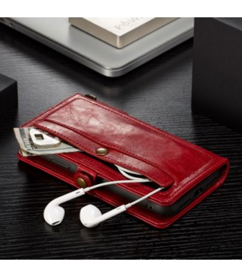 Vintage Leather Folio Case With Card Holder For iPhone Xs Max
