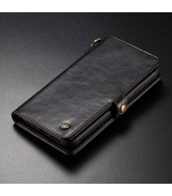 Vintage Leather Folio Case With Card Holder For iPhone XR