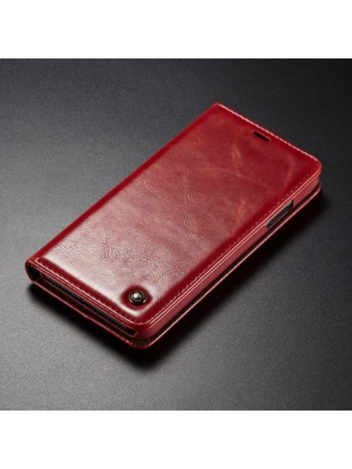 iPhone XR Crazy Horse Leather Folio Card Case