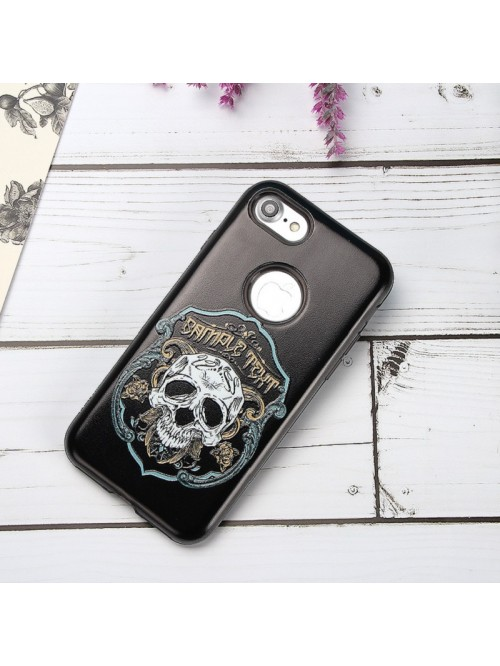 iPhone 6/7/Plus 3D Relief Skull Dual Layer Protective Case