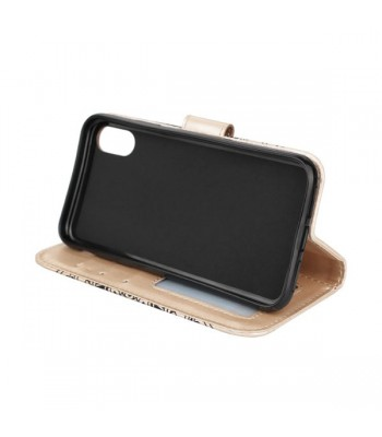iPhone X Embossed Folio Case With Card Holder