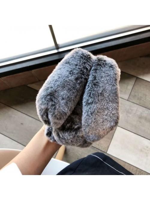 iPhone X Fluffy Fur Bunny Case