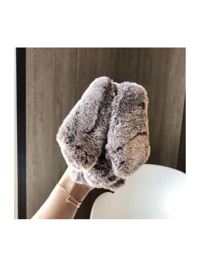 iPhone XR Fluffy Fur Bunny Case