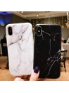 iPhone Xs Max Black/White Marble Protective Case