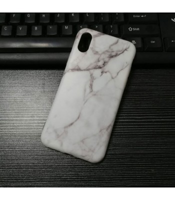 iPhone XR Black/White Marble Protective Case