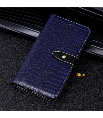 iPhone X Luxury Crocodile Leather Wallet Style Case