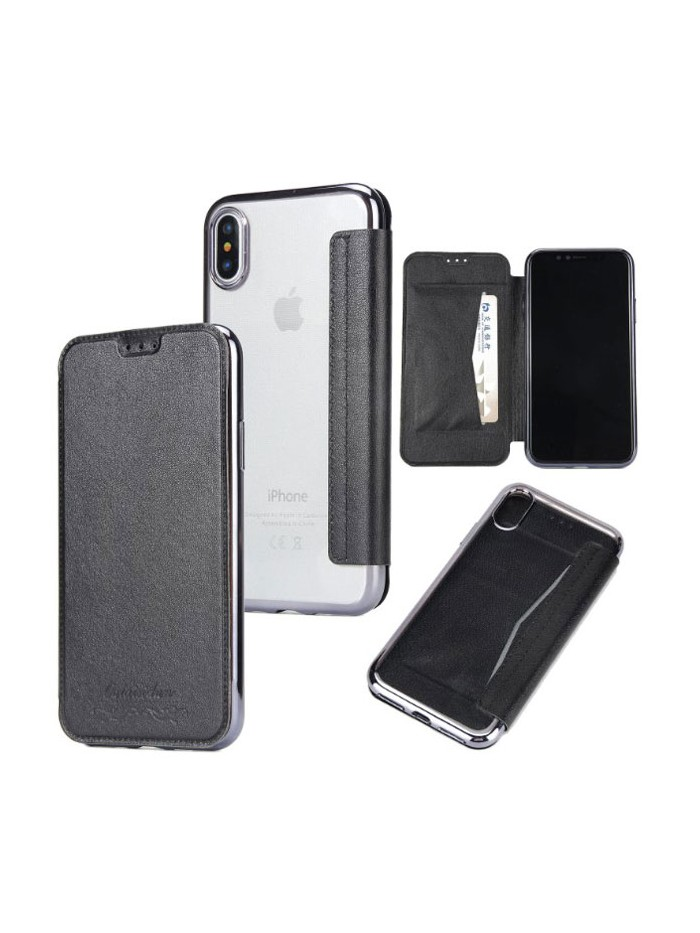 iPhone Xs Ultra Slim Leather Folio Case
