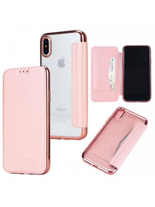buy popular 81e07 afd43 iPhone Xs Max Ultra Slim Leather Folio Case