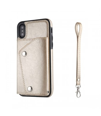 iPhone Xs Max Leather Back Case With Card Holder