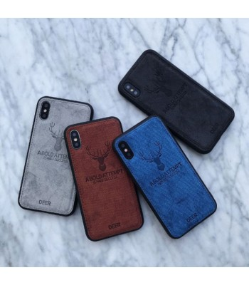 iPhone X Cloth Texture Case - Deer