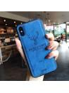 iPhone Xs Cloth Texture Case - Deer