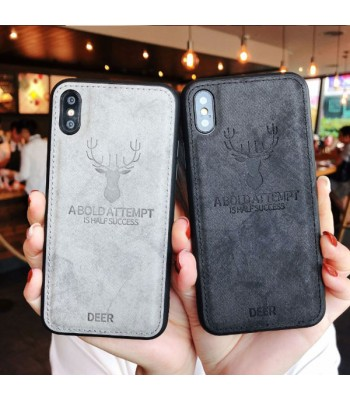 iPhone XR Cloth Texture Case - Deer