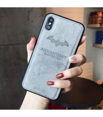 iPhone Xs Cloth Texture Case - Batman