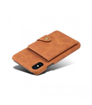iPhone X Leather Card Holder Back Case