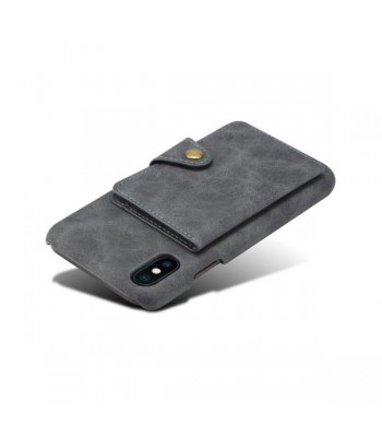 iPhone Xs Leather Card Holder Back Case