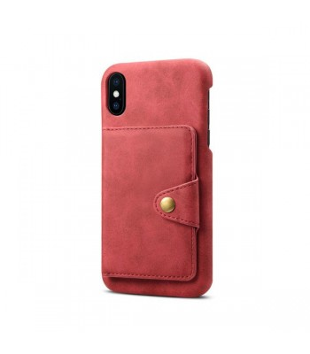 iPhone Xs Max Leather Card Holder Back Case