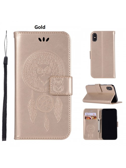 iPhone X Embossed Dream Catcher Leather Magnetic Wallet Case