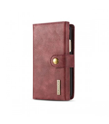 iPhone Xs Leather Wallet Magnetic Detachable Case
