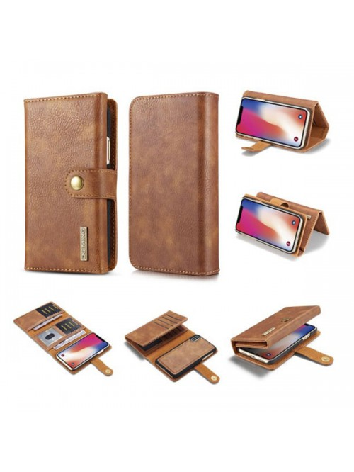 iPhone Xs Max Leather Wallet Magnetic Detachable Case