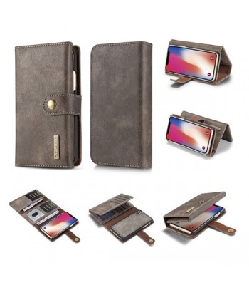 iPhone XR Leather Wallet Magnetic Detachable Case