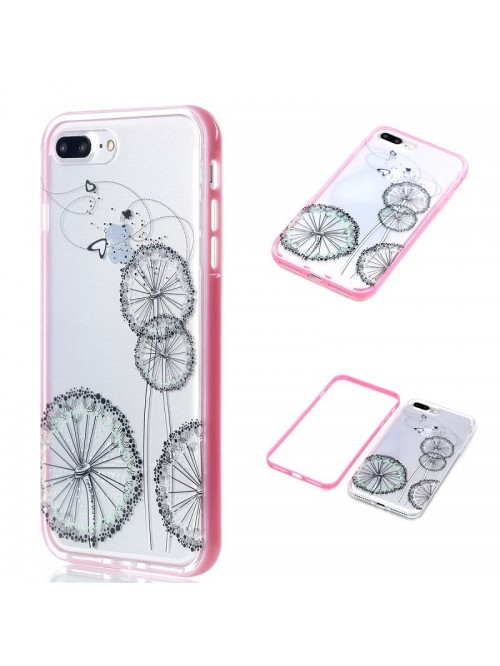 iPhone 6/7/Plus Slim Clear Dandelion Case